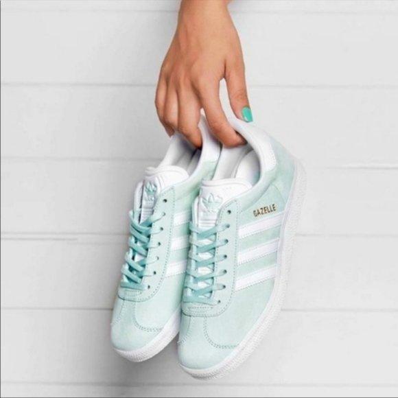Adidas Gazelle Women's light Green Suede Sneakers